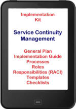 Click here for more details - implement ITIL® 2011 Service Continuity Management